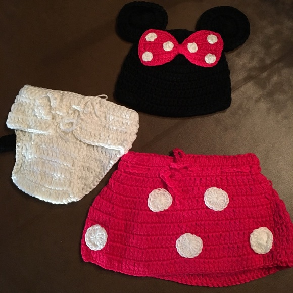 Newborn Baby Knitted Minnie Mouse Skirt Hat Poshmark